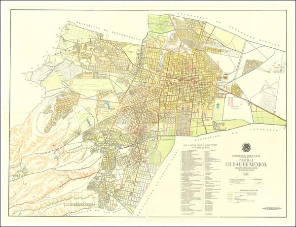 73-Mexico Map By Departmento del Distrito Federal