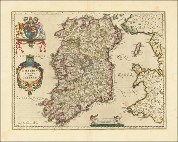 74-Ireland Map By Willem Janszoon Blaeu