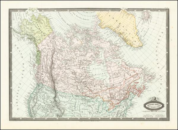 55-Alaska and Canada Map By F.A. Garnier