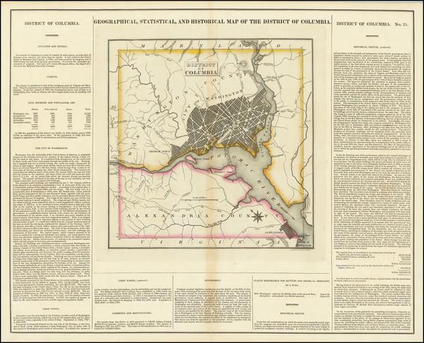 12-Washington, D.C. Map By Henry Charles Carey  &  Isaac Lea