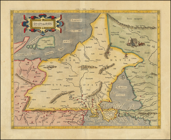 17-Poland, Ukraine and Baltic Countries Map By  Gerard Mercator