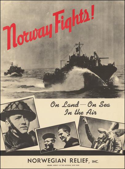 98-Scandinavia and World War II Map By Norwegian Relief Fund