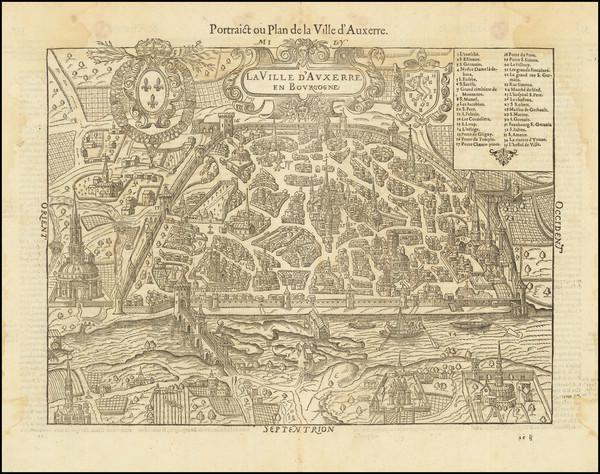 4-Other French Cities and Centre et Pays de la Loire Map By Francois De Belleforest