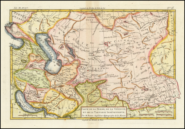 41-Central Asia & Caucasus and Persia & Iraq Map By Rigobert Bonne