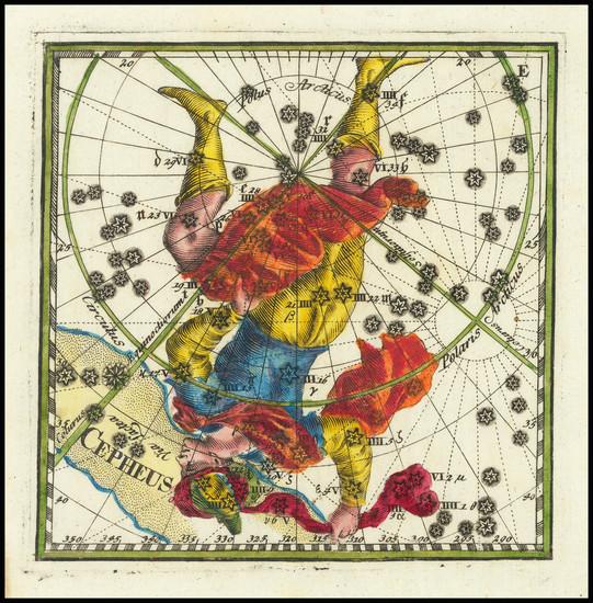 67-Celestial Maps Map By Corbinianus Thomas