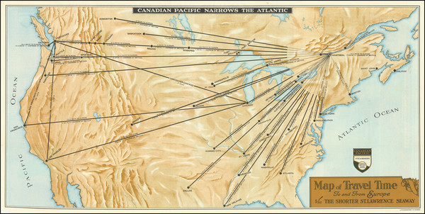 69-United States, North America and Canada Map By Canadian Pacific