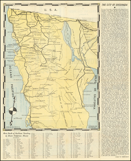 49-Baja California Map By A. Orozco
