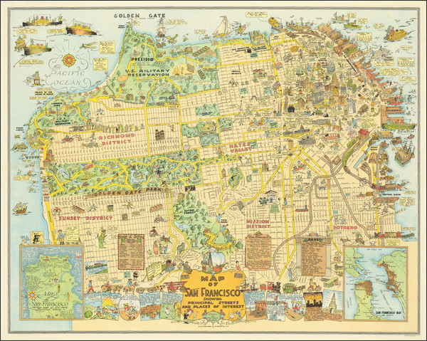 19-Pictorial Maps and San Francisco & Bay Area Map By Harrison Godwin
