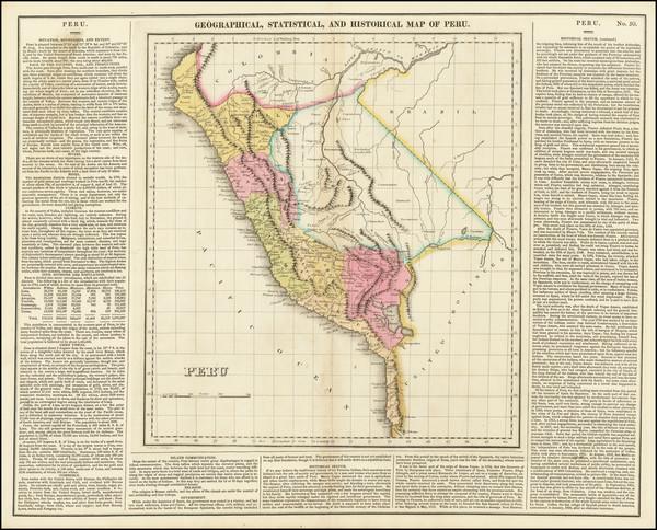 24-Peru & Ecuador Map By Henry Charles Carey  &  Isaac Lea
