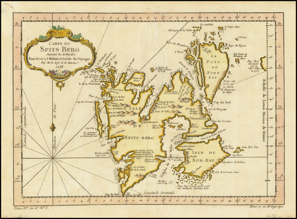 38-Polar Maps and Russia Map By Jacques Nicolas Bellin
