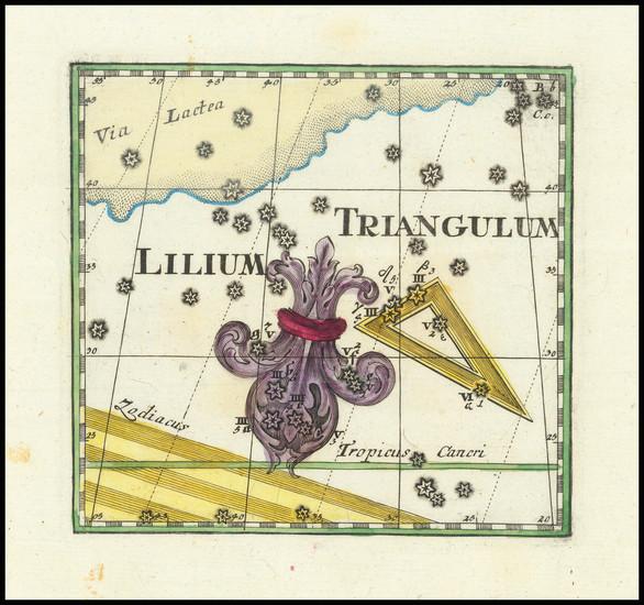 2-Celestial Maps Map By Corbinianus Thomas