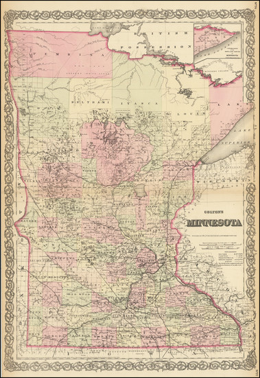 41-Midwest, Minnesota and Plains Map By G.W.  & C.B. Colton