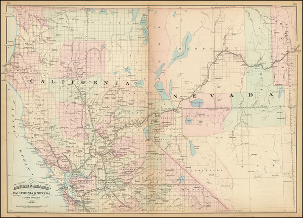 2-Nevada and California Map By Asher  &  Adams