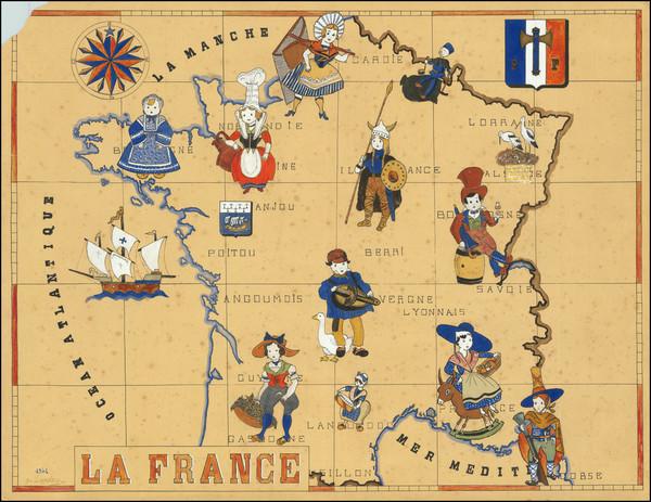 92-France and World War II Map By Landais