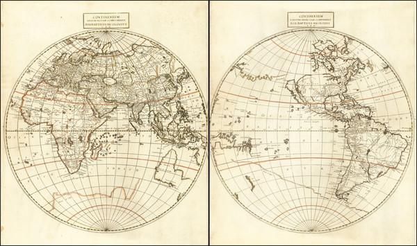 10-World, Eastern Hemisphere, Western Hemisphere and California as an Island Map By Giovanni Batti