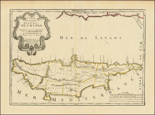 65-Cyprus Map By Pierre Moullart-Sanson