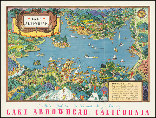 100-Pictorial Maps, California and Other California Cities Map By Raymond Winters