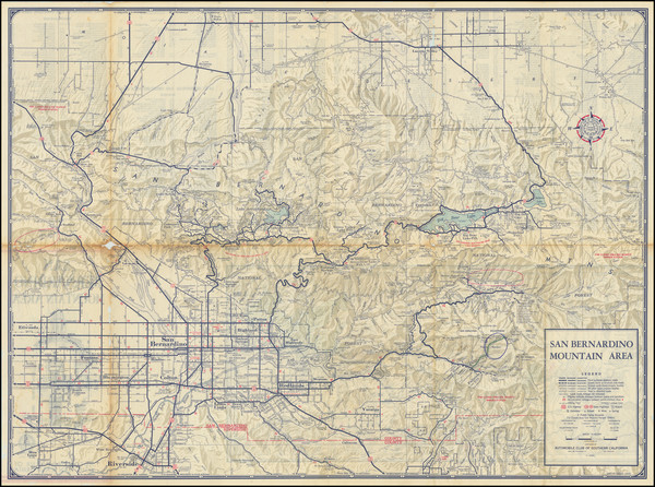 79-California and Other California Cities Map By Automobile Club of Southern California