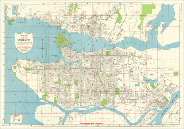 63-British Columbia Map By Roy Wrigley