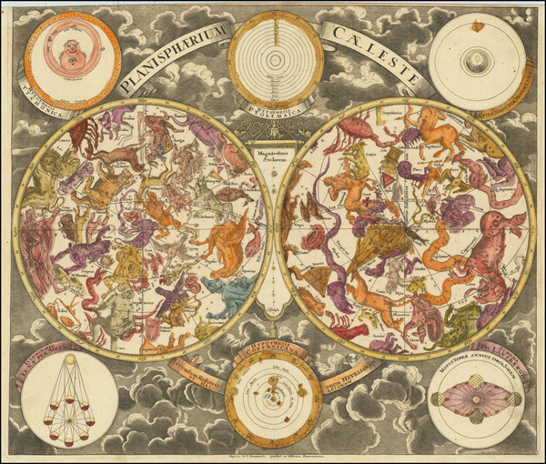 65-Celestial Maps Map By Georg Christoph Eimmart
