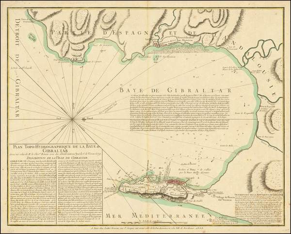 78-Gibraltar Map By Jean Lattré