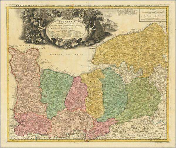 21-Normandie Map By Homann Heirs