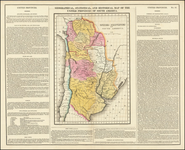 32-Argentina and Paraguay & Bolivia Map By Henry Charles Carey  &  Isaac Lea