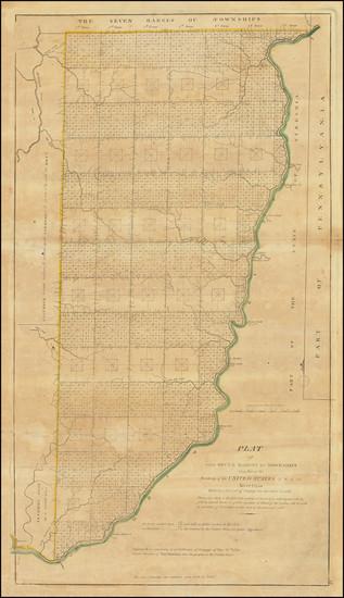 91-Ohio Map By Mathew Carey