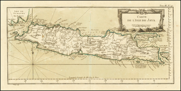 98-Indonesia Map By Jacques Nicolas Bellin