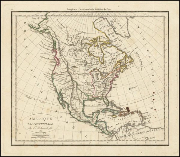 11-North America Map By Charles Francois Delamarche