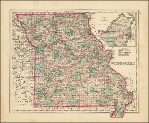 42-Missouri Map By O.W. Gray