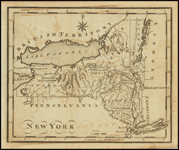 22-New York State Map By Joseph Scott