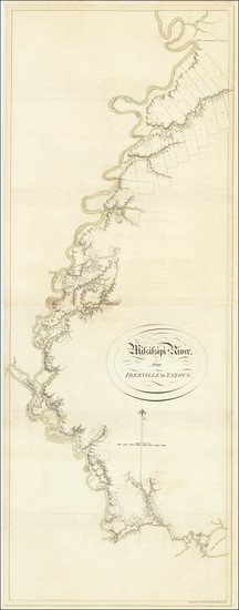 32-South, Louisiana, Mississippi and Arkansas Map By Joseph Frederick Wallet Des Barres