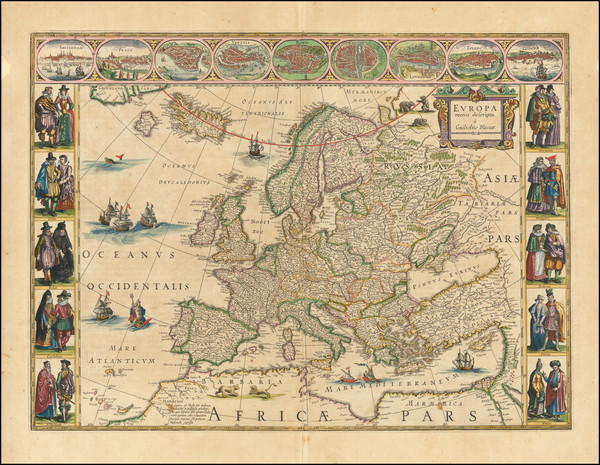 67-Europe Map By Willem Janszoon Blaeu