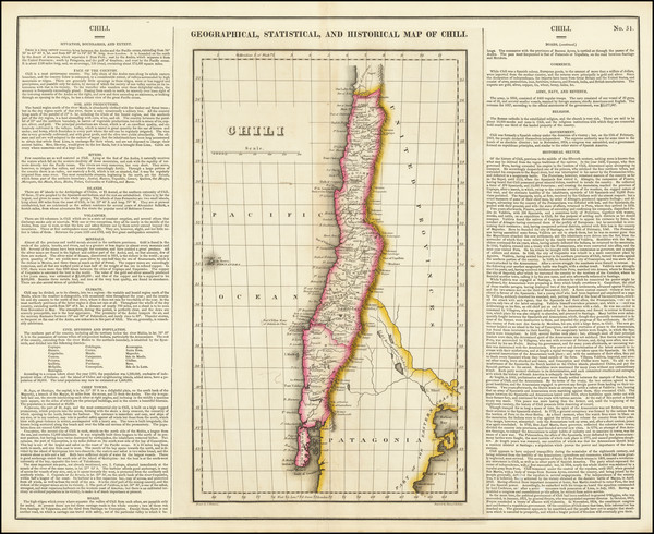 5-Chile Map By Henry Charles Carey  &  Isaac Lea