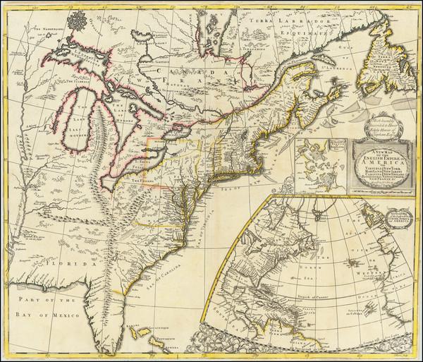 22-United States, New England, Mid-Atlantic and Southeast Map By John Senex
