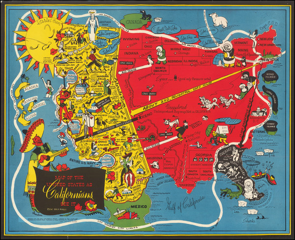 6-Pictorial Maps and California Map By Oren Arnold