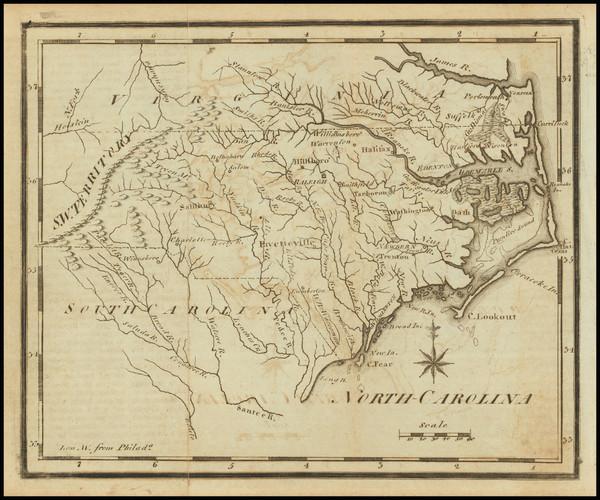 94-North Carolina Map By Joseph Scott