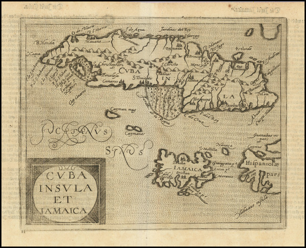 69-Cuba, Jamaica and Other Islands Map By Johannes Matalius Metellus