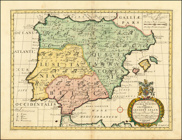 71-Spain and Portugal Map By Edward Wells