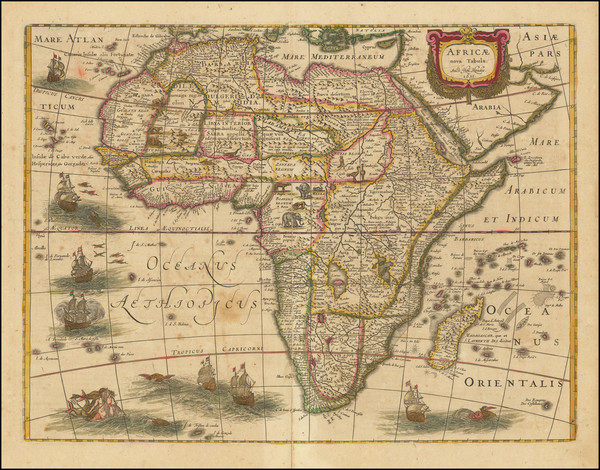 84-Africa Map By Henricus Hondius