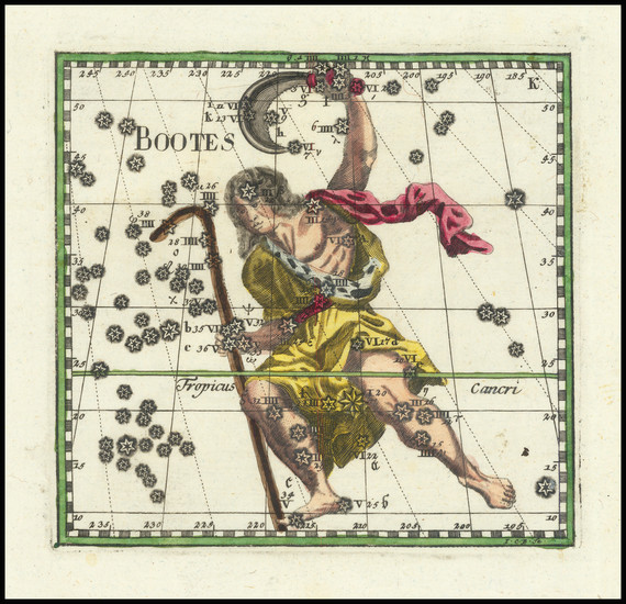48-Celestial Maps Map By Corbinianus Thomas