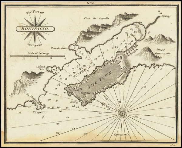 15-Corsica Map By William Heather
