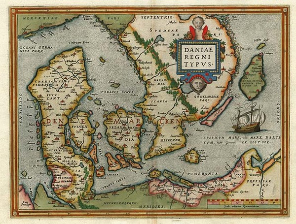 71-Europe and Scandinavia Map By Abraham Ortelius