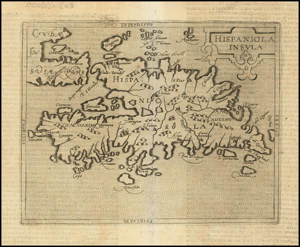 100-Hispaniola Map By Johannes Matalius Metellus