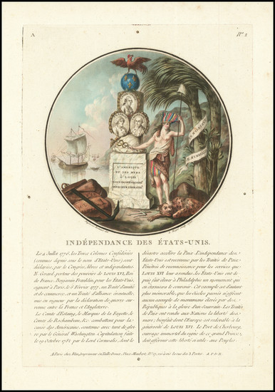 68-Portraits & People and American Revolution Map By Jean Duplessis-Bertaux