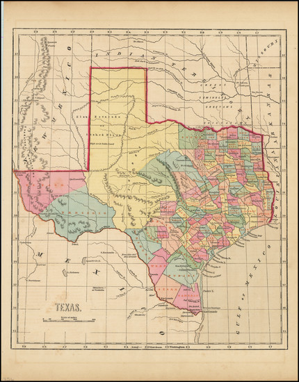 19-Texas Map By Sidney Morse