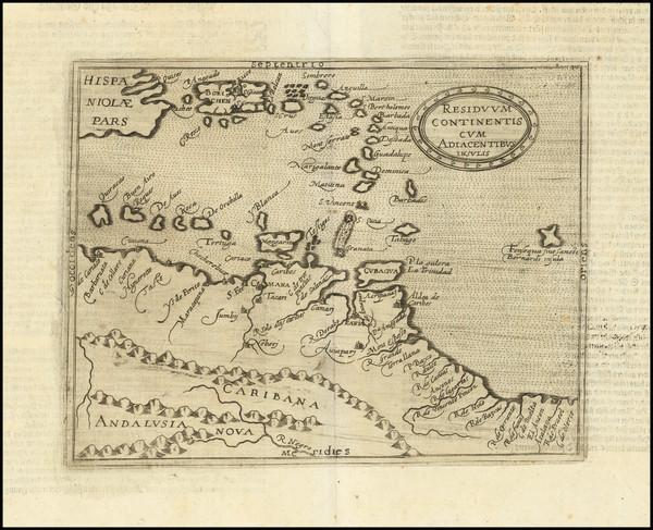45-Caribbean, Hispaniola, Puerto Rico, Virgin Islands, Other Islands and Venezuela Map By Johannes