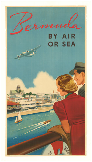 3-Bermuda and Travel Posters Map By Anonymous