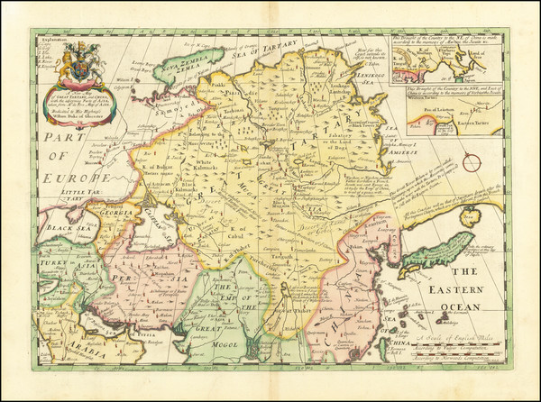 100-China, Central Asia & Caucasus and Russia in Asia Map By Edward Wells